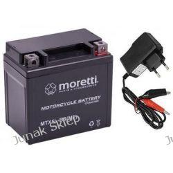 Akumulator żelowy AGM Moretti 12V/5Ah MTX5L-BS+ładowarka cyfrowa.