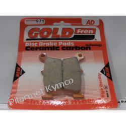 Klocki hamulcowe renomowanej marki GOLDFREN AD do KYMCO ZX 50 / KB 50 (Meteorit 50) - przód.