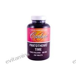 Carlson Labs, Pantothenic Time, Timed-Release, 500 mg, 250 Tablets