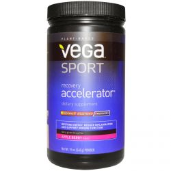 Vega, Sport, Recovery Accelerator, Powder, Apple Berry, 19 oz (540 g)