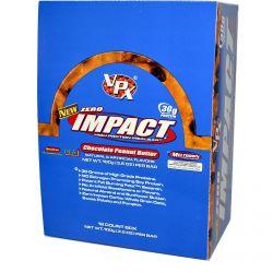 VPX Sports, Zero Impact, High Protein Meal Bar, Chocolate Peanut Butter, 12 Bars, 3.5 oz (100 g) Each