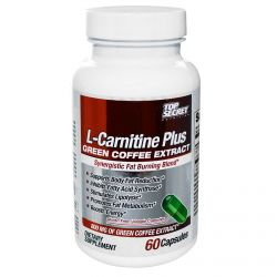 Top Secret Nutrition, LLC, L-Carnitine Plus, Green Coffee Extract, Synergistic Fat Burning Blend, 60 Capsules