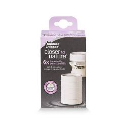 Tommee Tippee, Closer to Nature, Breast Milk Protection Lids, 6 Lids