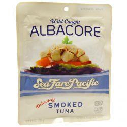 Sea Fare Pacific, Albacore, Wild Caught, Smoked Tuna, 6 oz (170 g)