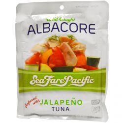 Sea Fare Pacific, Albacore, Wild Caught, Jalapeno Tuna, 6 oz (170 g)