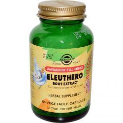 Solgar, Eleuthero Root Extract, 60 Veggie Caps