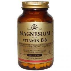 Solgar, Magnesium, with Vitamin B6, 250 Tablets