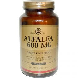 Solgar, Alfalfa, 600 mg, 250 Tablets