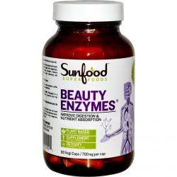 Sunfood, Beauty Enzymes, 700 mg, 90 Vegi Caps