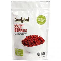 Sunfood, Sun-Dried Goji Berries, 8 oz (227 g)