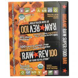 Raw Revolution, Raw Rev 100, Organic Raw Super Food Bar, Almond Buttercup, 20 Bars, 0.8 oz (22 g) Each