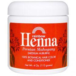 Rainbow Research, Henna, 100% Botanical Hair Color and Conditioner, Persian Mahogany (Medium Auburn), 4 oz (113 g)