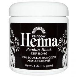 Rainbow Research, Henna, 100% Botanical Hair Color & Conditioner, Persian Black (Deep Ebony), 4 oz (113 g) Powder