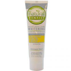 Natural Dentist, Healthy Teeth & Gums Whitening Fluoride Toothpaste, Peppermint Twist, 5.0 oz (142 g)