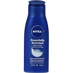 Nivea, Essentially Enriched Body Lotion, Almond Oil & Hydra IQ, 2.5 fl oz (75 ml)