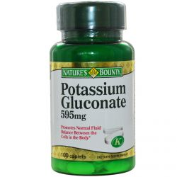 Nature's Bounty, Potassium Gluconate, 595 mg, 100 Caplets