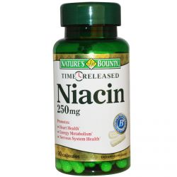 Nature's Bounty, Niacin, Time Released, 250 mg, 90 Capsules