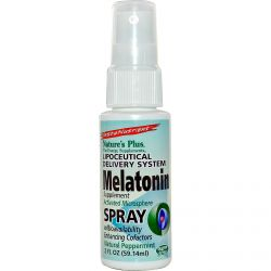 Nature's Plus, InstaNutrient, Melatonin Supplement Spray, Natural Peppermint, 2 fl oz (59.14 ml)