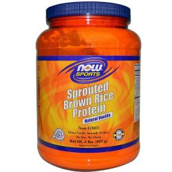 Now Foods, Sports, Sprouted Brown Rice Protein, Natural Vanilla, 2 lbs (907 g)