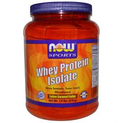 Now Foods, Sports, Whey Protein Isolate, Toffee Caramel Fudge, 1.8 lbs (816 g)