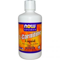Now Foods, Sports, L-Carnitine Liquid, Citrus Flavor, 1000 mg, 32 fl oz (946 ml)