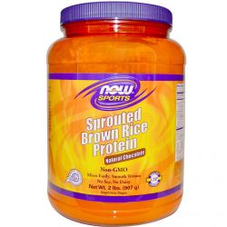 Now Foods, Sports, Sprouted Brown Rice Protein, Natural Chocolate, 2 lbs (907 g)