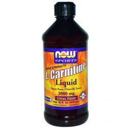 Now Foods, Sports, L-Carnitine Liquid, Triple Strength, Citrus Flavor, 3000 mg, 16 fl oz (473 ml)
