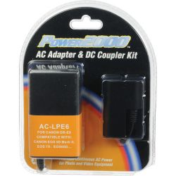 Power2000 AC-LPE6 AC Adapter and DC Coupler Kit AC-LPE6 B&H