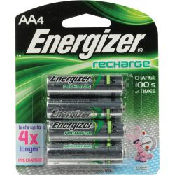 Energizer AA NiMH Rechargeable Batteries NH15BP-4 B&H Photo