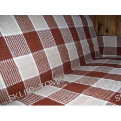 Komplet narzuta na łóżko 170x205cm i 2 na fotele krata brązowy kremowy beżowy