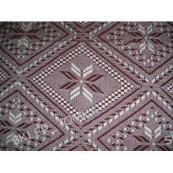 Komplet narzuta na łóżko 170x210cm i 2 na fotele 170x66cm kwiaty kremowy brązowy