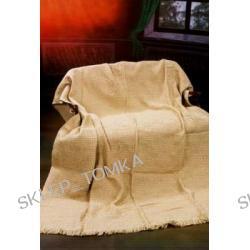 Komplet: narzuta na łóżko 170x205cm oraz 1 narzuta na fotel 66x170cm Beż