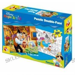 Puzzle dwustronne do kolorowania - Pinokio (204)