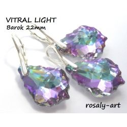 KOMPLET SWAROVSKI BAROK 22mm VITRAL LIGHT + pudełko