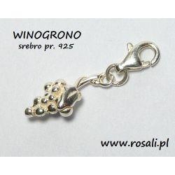 charms WINOGRONA zawieszka srebro pr. 925 do bransoletki bazy