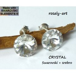 KOLCZYKI GWIAZD rivoli Swarovski CRYSTAL  srebro Biżuteria i Zegarki