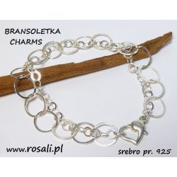 baza charms podwójny łańcuszek ROLO ozdobne zapięcie srebro Biżuteria i Zegarki