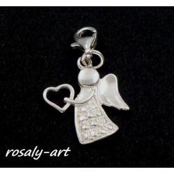 charms ANIOŁ aniołek zawieszka ze srebra pr. 925 do bazy