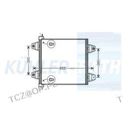 CHŁODNICA KLIMATYZACJI DAF XF95/XF105 Chłodnice klimatyzacji