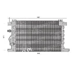 CHŁODNICA KLIMATYZACJI MB ACTROS MP 2/3 Chłodnice klimatyzacji