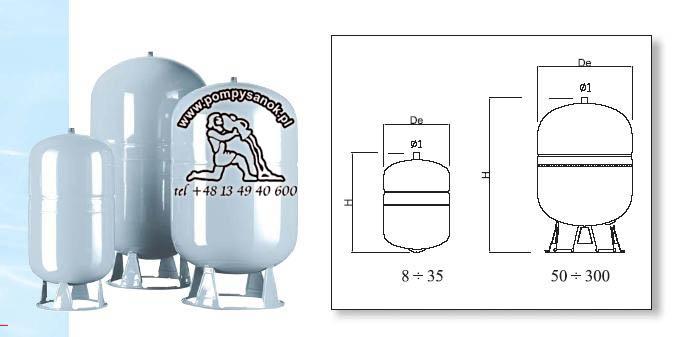 Naczynie wzbiorcze DS 8 CE - 8 litrów