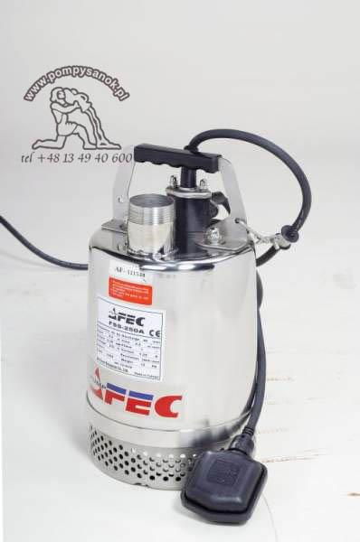 FSS 250 - AFEC pompa odwodnieniowa ze stali kwasoodpornej Hmax - 8m, wydajnoœć do 200 l/min