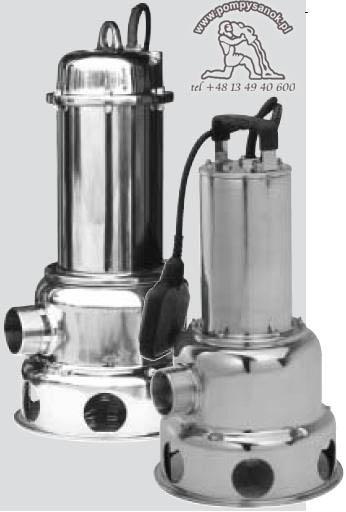 POMPA ZATAPIALNA PRIOX 420/11 M, 420/11 M AUT(z pływakiem) lub 420/11 T - do brudnej wody