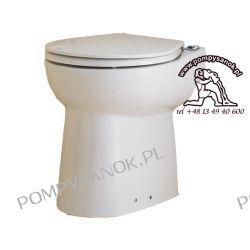 SANICOMPACT C43 - Ceramiczna miska WC z deską, bez spłuczki, z wbudowanym pompo-rozdrabniaczem i pneumatycznym systemem spłukiwania.