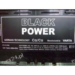 Akumulator 74Ah Wrocław 680A P+Varta Black Power