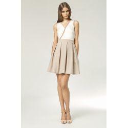 NIFE Zjawiskowa sukienka, lato 2014 S/42 BEŻOWA
