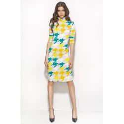 NIFE Sukienka z golfem S56 pepito