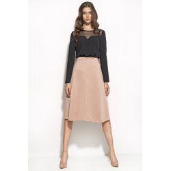 NIFE Spódnica midi SP25 - różowa pikowana