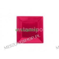 TALERZE TALERZ DESEROWE PLASTIKOWE 23 x23 cm bordo