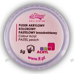 Puder akrylowy kolorowy 5g PASTELOWY BRZOSKWINIOWY